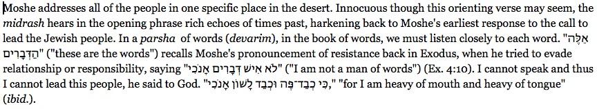 Moshe addresses... (with God responded)